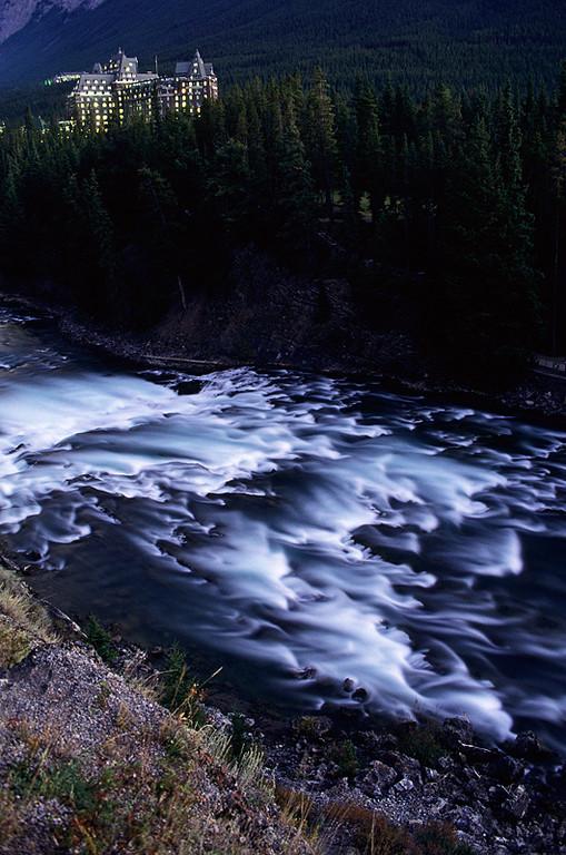 Banff Springs by Moonlight