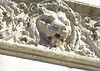 The decoration above the entrance to the old historic Sedgwick County Courthouse, on the National Historic Register, includes this lion.  The courthouse was built in 1888 and in use until 1959.  Wichita, Kansas Oct., 2008
