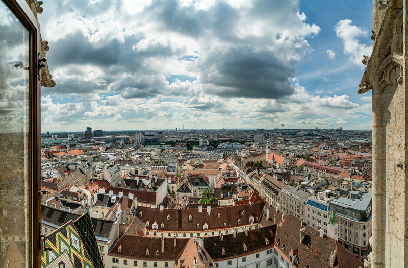 Türmerstube im Stephansdom mit Blick auf Wien