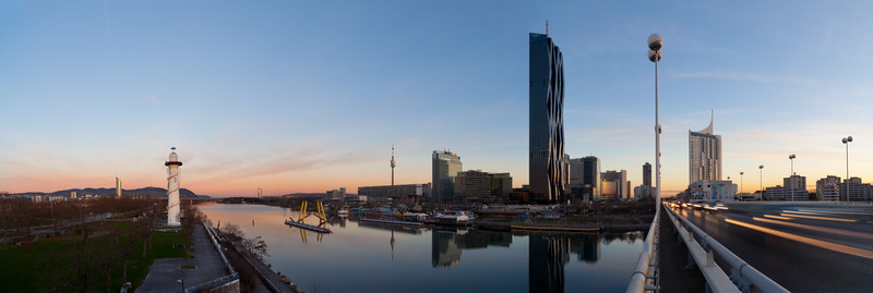 Donau und Donaucity