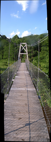 takeout bridge near Hendricks, WV  4 image pano