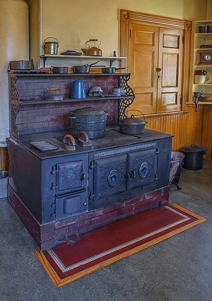 Stove in main house at Wilder Ranch.