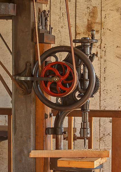 Drill press at Wilder Ranch, Santa Cruz Ca.