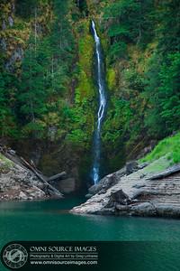 Cougar Lake Lagoon Waterfall