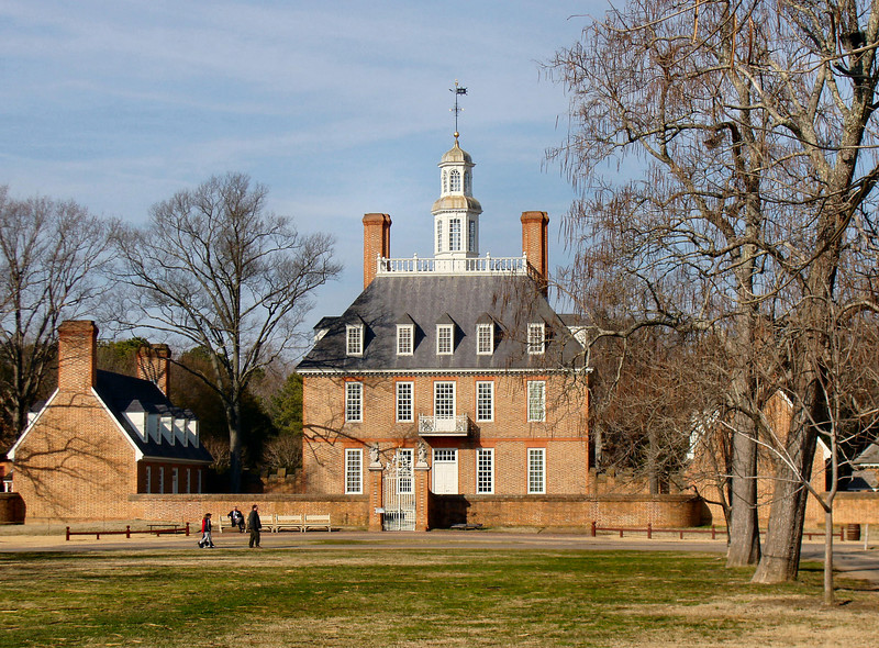 The Governor's Palace in Williamsburg, VA