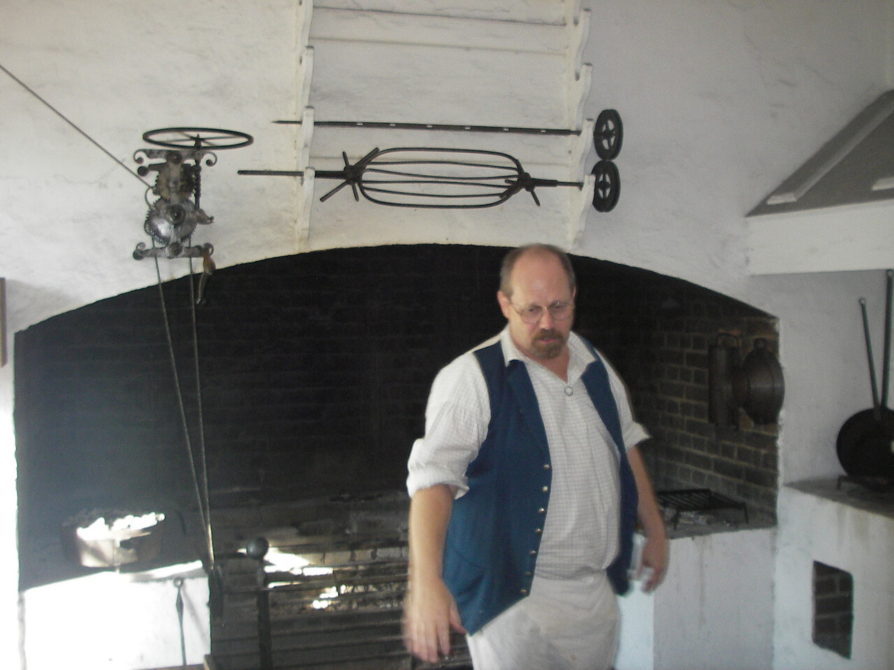 Cook in his kitchen of the Governor's Mansion