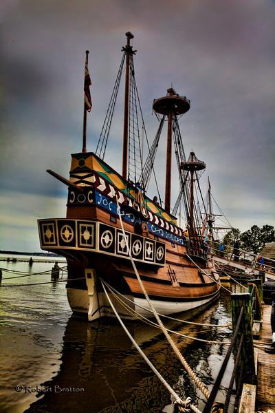 Ship at Jamestown Riverfront