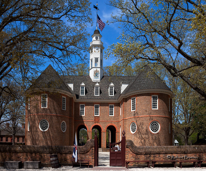 Colonial Williamsburg Capitol, Side View