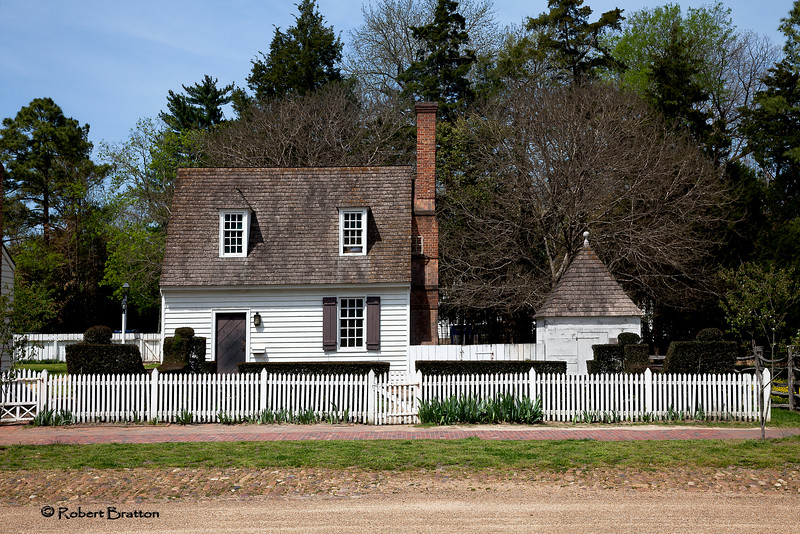 House and Fence in Colonial Williamsburg