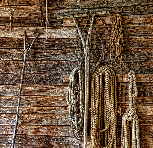 Ropes Hung on the Wall