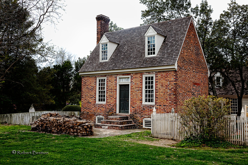 House with Firewood in Colonial Williamsburg