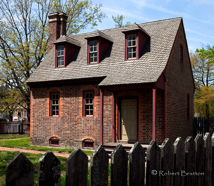 Brick House in Colonial Williamsburg