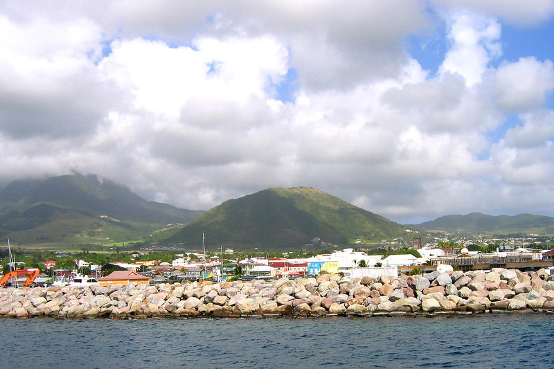 Basseterre from the ship before going ashore