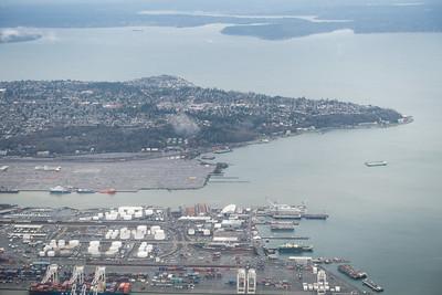 20151218.  Window seat view of Seattle WA on Boston to Seattle flight.