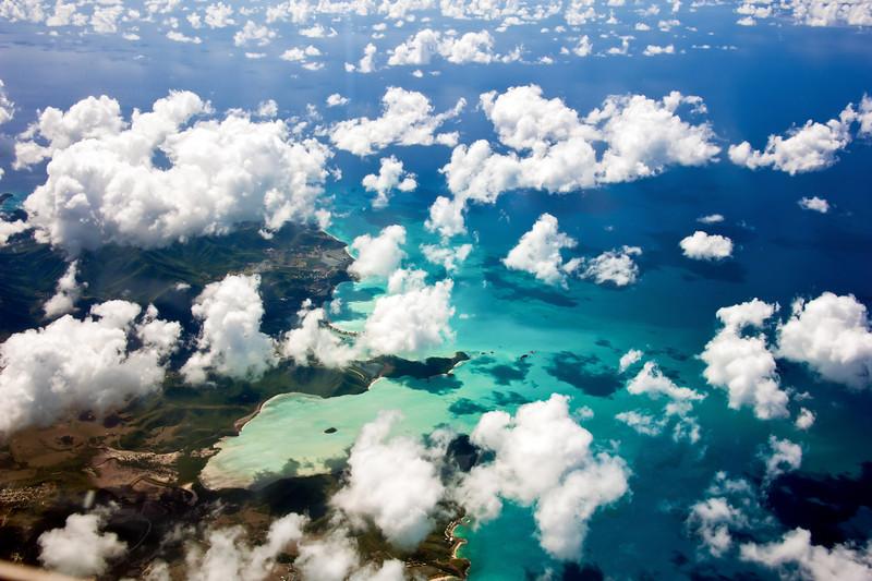 Over the Caribbian Sea