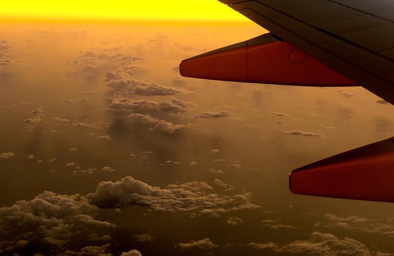 Over Caribbean Sea