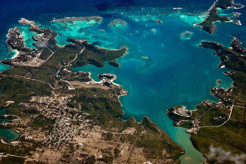 Earthscape Over the Caribbean Sea
