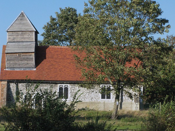 Small Church on Banks of Thames