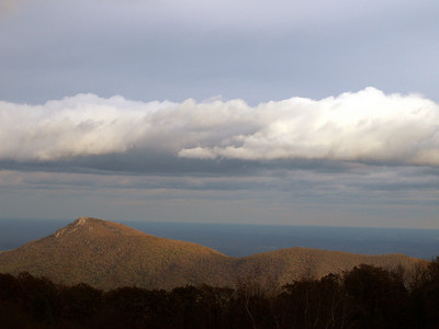 Old Rag Mountain, with cloud roof.