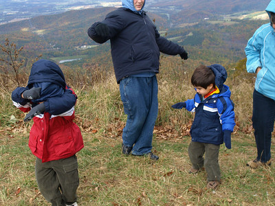 Adam, Nick and Benjamin loved running in the wind.