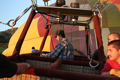 Each balloon has four compartments (which each holds up to four passengers) plus the Balloon Pilot.