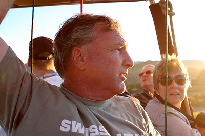 This is Bob Swansom, our experienced, informative and friendly balloon pilot.