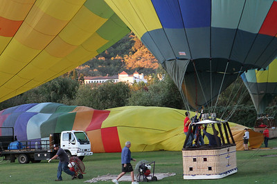 Teamwork is required to get the balloons ready for passengers and ready for flight.