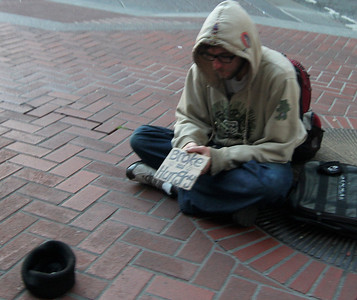 Broke and Hungry on Market Street.
