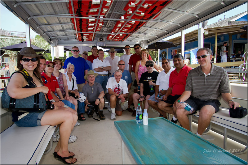 Wings Over Carolina Flying Club group shot on-board Austin Boat Tours boat - Rudy Austin was our guide to Portsmouth Island