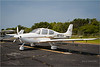 David's plane parked at Ocracoke Airport - Cirrus (sweet ride!!)