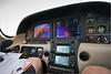 Cockpit and dash of David's Cirrus in flight