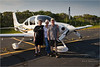 Neil, Peggy, and David with David's Cirrus