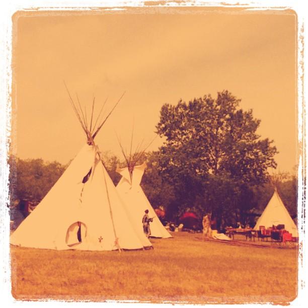 Red Willow Teepee group at Winnipeg Folk Fest