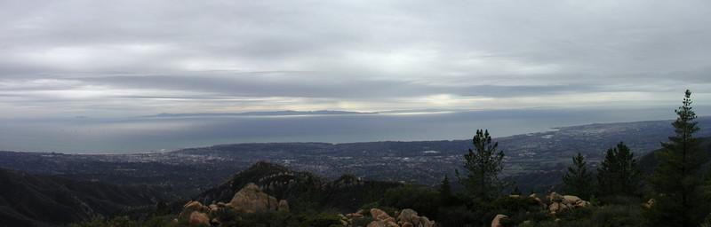 Looking West from East Camino Cielo, La Cumbre peak el. 3895'