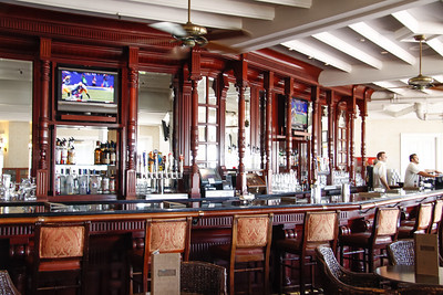 The bar at the Hotel Del Coronado.