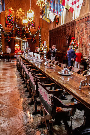 Anyone hungry?  The dining room table at Hearst Castle. I wonder what famous people sat in these chairs.