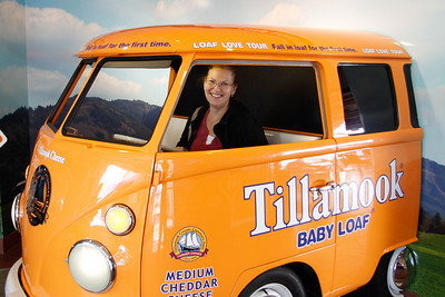 Carol got a temporary job driving a delivery van for Tillamook cheese.