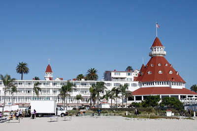 View from the beach of the Hotel Del Coronado.