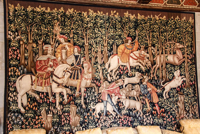 One of the many beautiful tapestries at the castle.