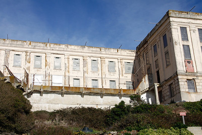 Outside view of one of the cell blocks at Alcatraz.