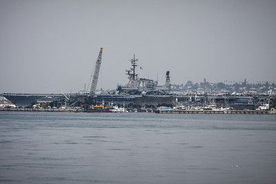 The U.S.S. Midway - aircraft carrier from the 1940's and open for tours. We plan to do the tour later during this holiday.