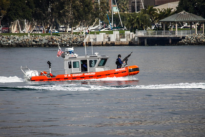 Homeland security at work in the San Diego Bay.