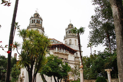 The outside of the main house at Hearst Castle - only 60,000 sq. feet.