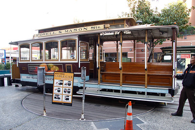 "San Francisco cable car.  Did anyone say ""Rice a Roni, the San Francisco treat"""