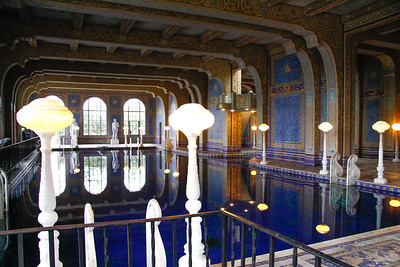 The indoor pool at the castle.