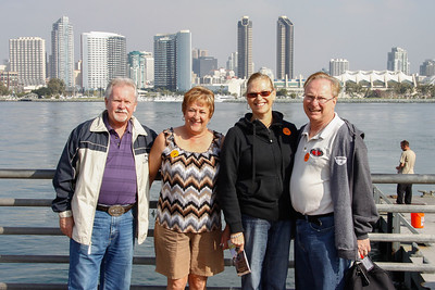 The four of us with San Diego skyline in the background.