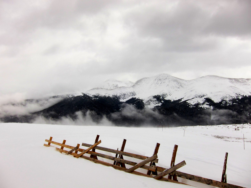 Up near the highest point on the snow fields, at 12,060 feet