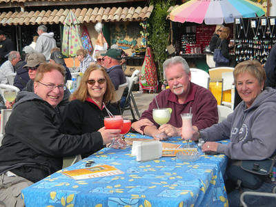 Enjoying a margarita in Los Algodones, Mexico before walking back across the border to the U.S.  Jan, 2011.
