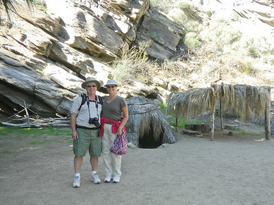 At the start of our hike at Indian Canyons.    Feb, 2011.