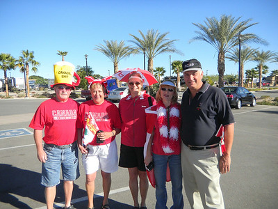 Carol, with Marie & Ralph and Suzanne and Dan from Ottawa during Canada day at the Palms RV resort in Yuma, Arizona.   Jan, 2011.
